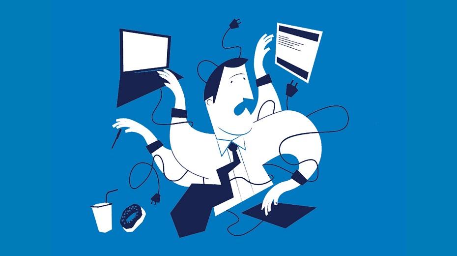 تصویر از استرس در محیط کار