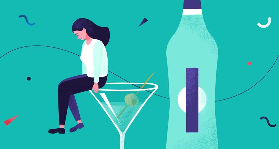 تصویر از ارتباط افسردگی و الکل