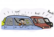 تصویر از استرس ترافیک
